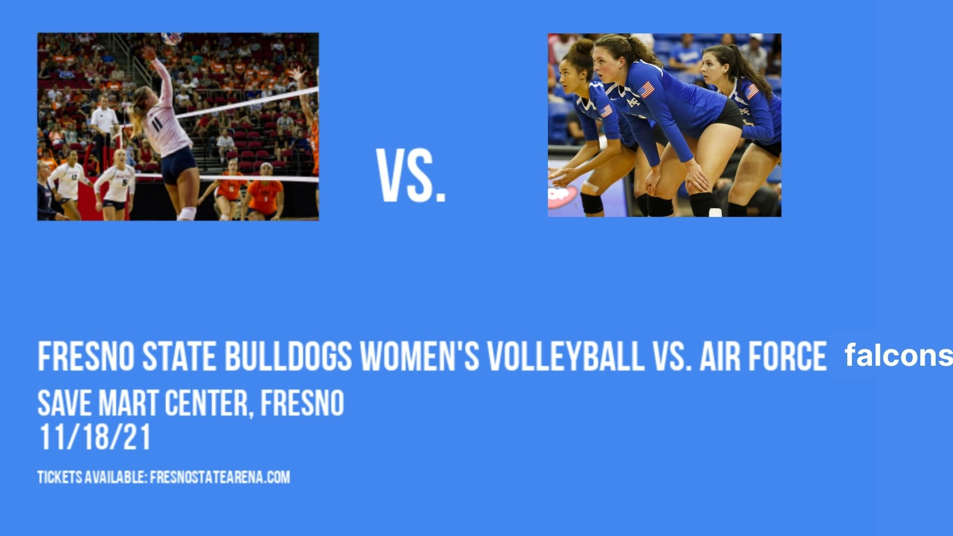 Fresno State Bulldogs Women's Volleyball vs. Air Force Falcons at Save Mart Center