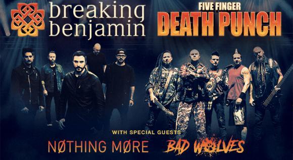 Five Finger Death Punch & Breaking Benjamin at Save Mart Center